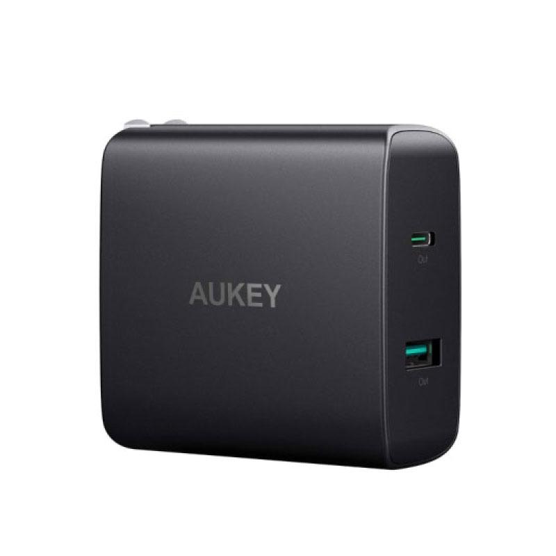 ตัวแปลง Aukey PA-Y10 2 port USB-C with PD3.0 Wall Charger Adapter