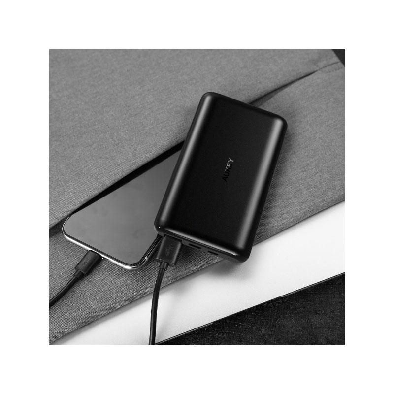 แบตสำรอง Aukey PB-XN10 10,000mAh Slim USB-C PowerBank Fast Charge ขาย