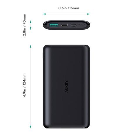 แบตสำรอง Aukey PB-XN10 10,000mAh Slim USB-C PowerBank Fast Charge ราคา