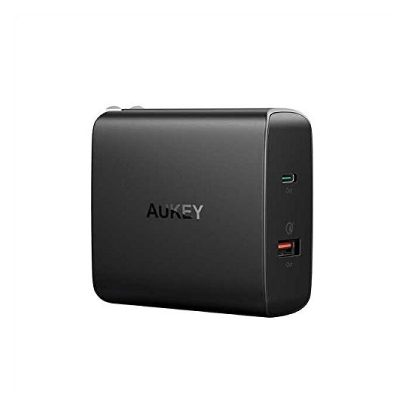 หัวชาร์จ Aukey PA-Y11 2 Port USB-C with PD2.0 + Quick Charge 3.0 Adapter