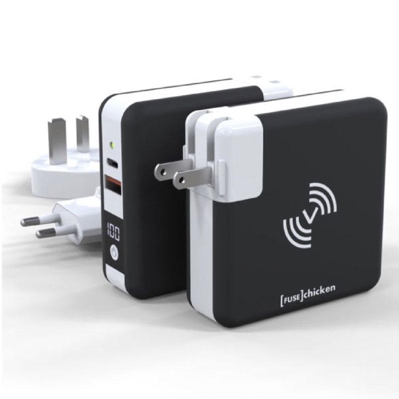 หัวชาร์จ Fuse Chicken Universal travel charger USB A,C Wireless Charging