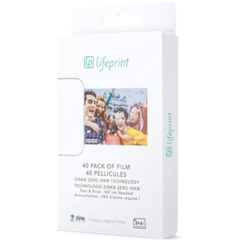กระดาษปริ้นรูป Lifeprint 3x4.5 Photo Film For 3x4.5 Photo and Video Printer 40 Pack