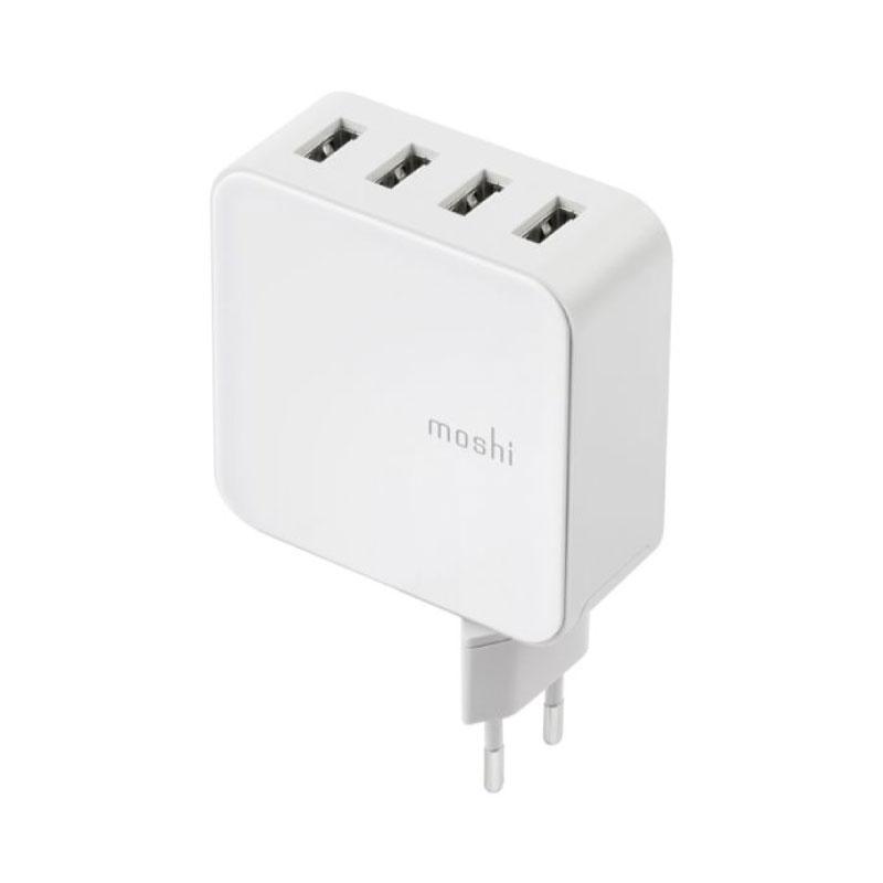 หัวชาร์จ Moshi ProGeo 4-Port USB Wall Charger