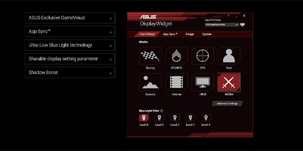 """จอคอม Asus ROG 43"""" VA Curved @ 120Hz XG43VQ Monitor ซอฟต์แวร์"""