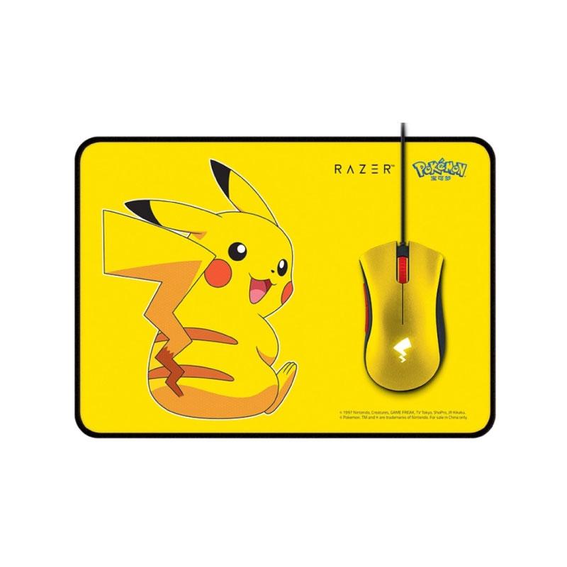 เมาส์ Razer Deathadder Essential Pokemon Edition Gaming Mouse With Mouse Pad
