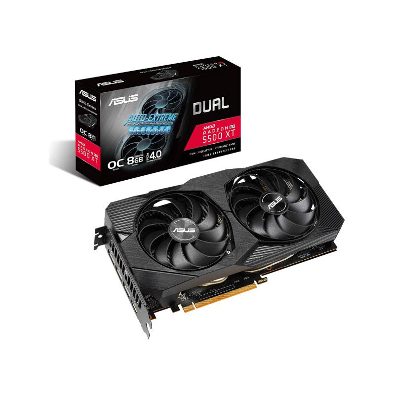 การ์ดจอ Asus Dual RX 5500 XT O8G EVO 8GB GDDR6 128 Bit VGA