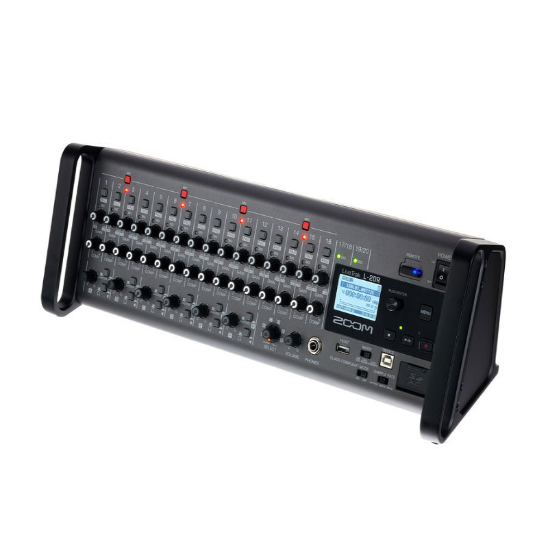Zoom L-20R Rack Mountable Digital Mixer, Audio Interface and Recorder