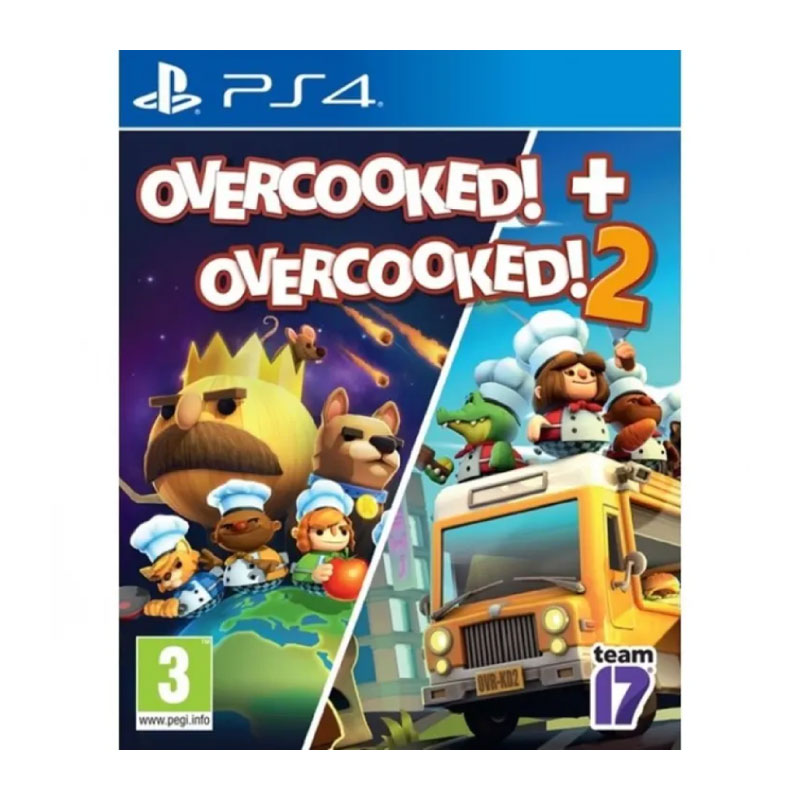 PS4 OVERCOOKED! + OVERCOOKED! 2 (EURO) Game Console