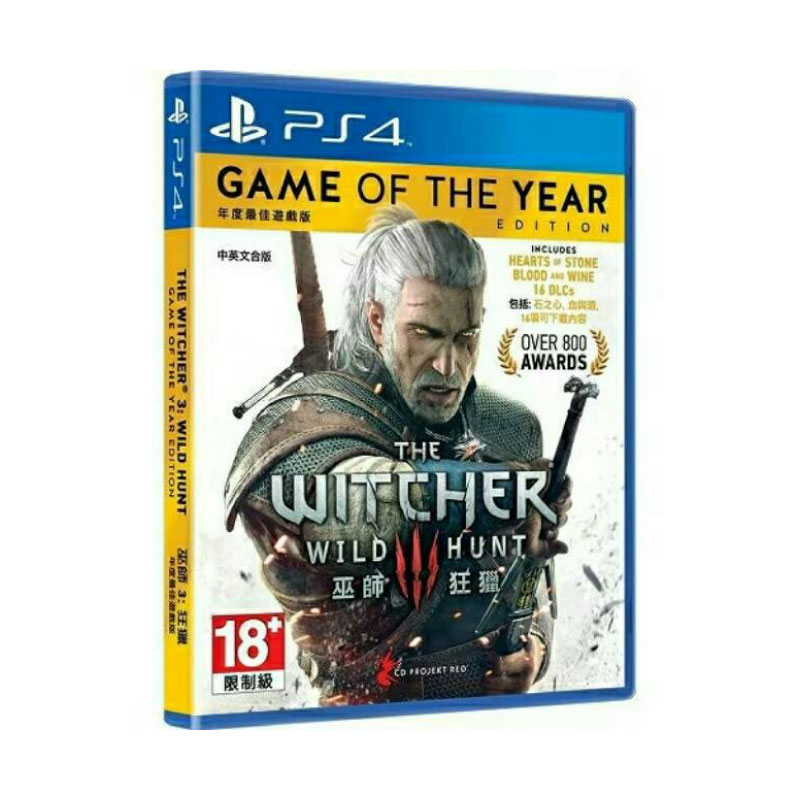 PS4 THE WITCHER 3: WILD HUNT [GAME OF THE YEAR EDITION] (ENGLISH & CHINESE SUBS) (ASIA) Game Console