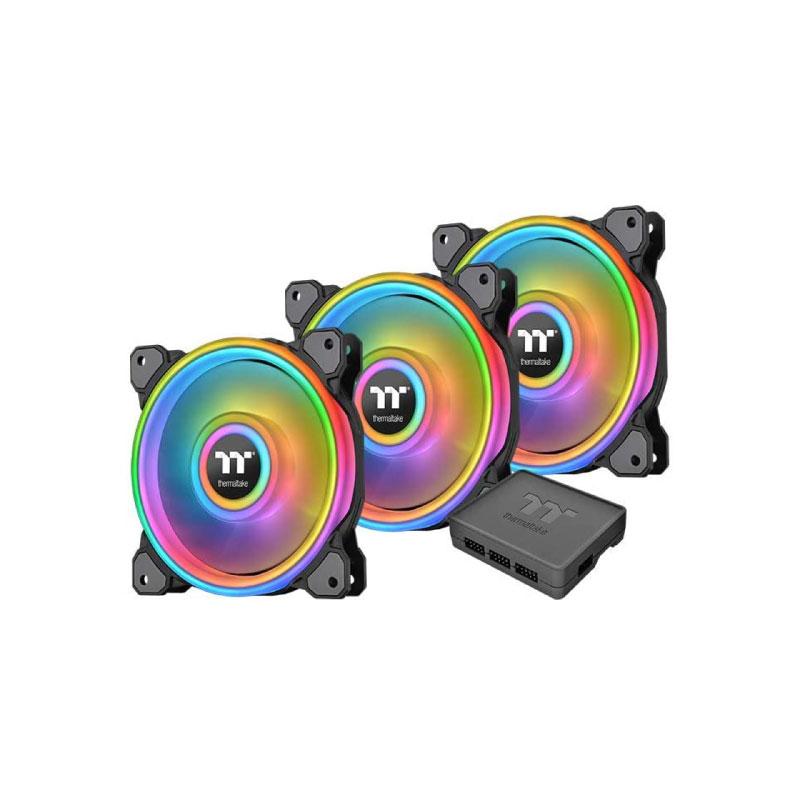 พัดลมระบายความร้อน Thermaltake Riing Quad 12 RGB x3