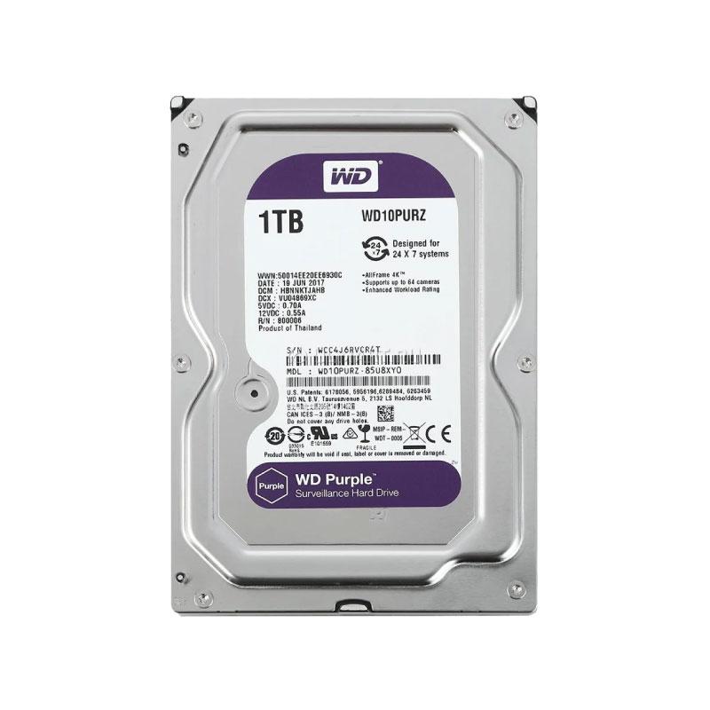 ฮาร์ดดิสก์ WD 1 TB AV WD10PURZ Purple Harddisk