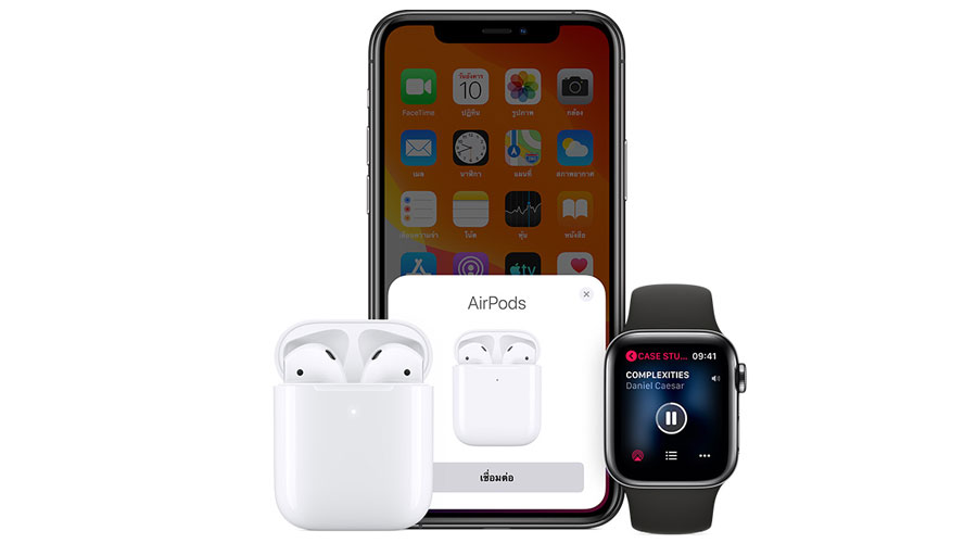 หูฟังไร้สาย Apple AirPods with Charging Case ขายดี