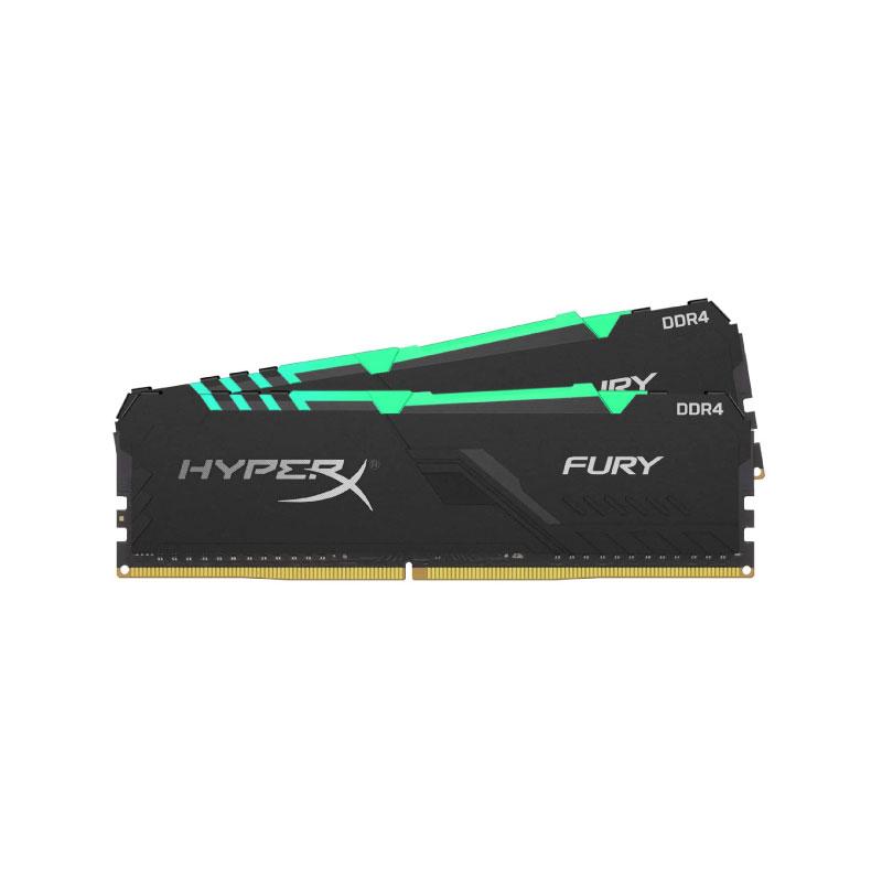 แรม Kingston 32GB (16GBx2) HyperX FURY RGB 3466MHz