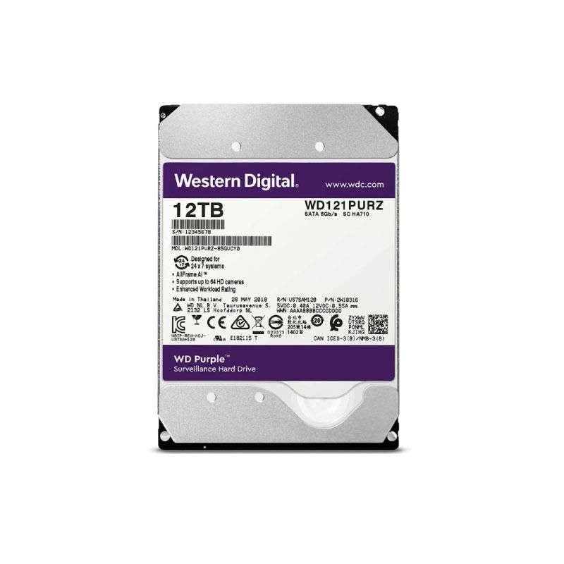 ฮาร์ดดิสก์ WD 12 TB AV WD121PURZ Purple Harddisk