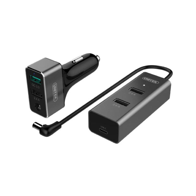หัวชาร์จ Unitek 60W 5-Port USB Smart Car Charger