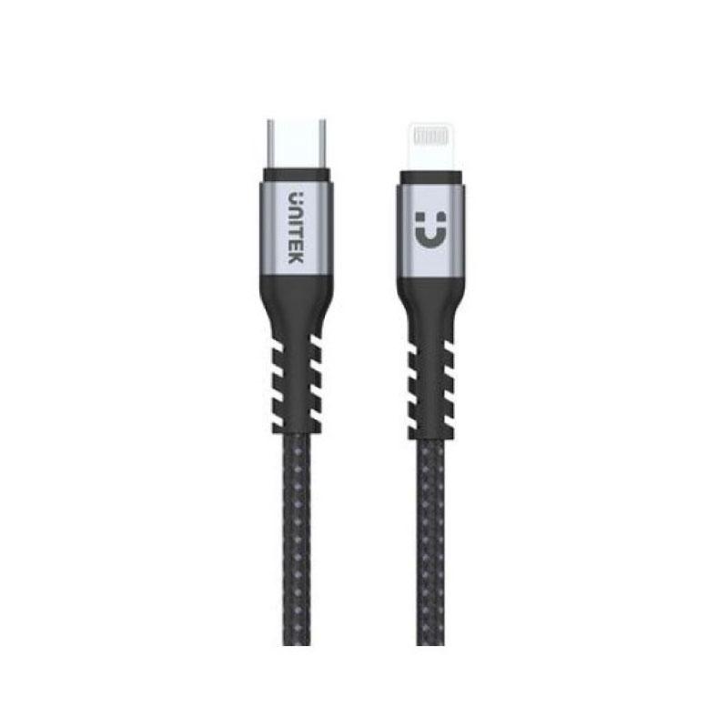 สายชาร์จ Unitek USB-C To Lightning 1M (C14060GY)