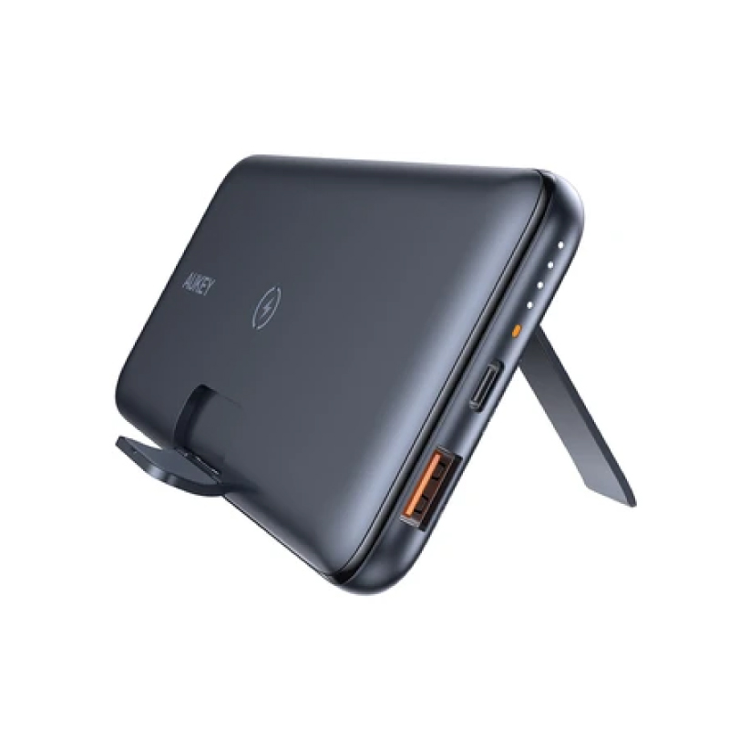 แบตสำรองไร้สาย Aukey PB-WL02 10000mAh Powerbank With Foldable Stand