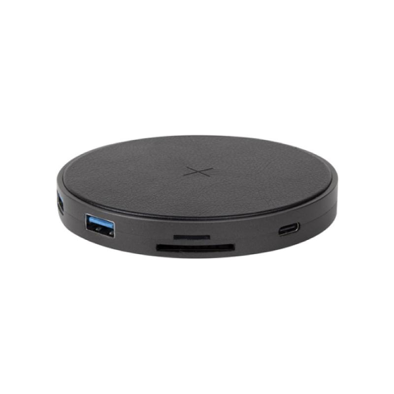 แท่นชาร์จ Energea WiHub 7 IN 1 USB-C Hub Wireless Charging Pad