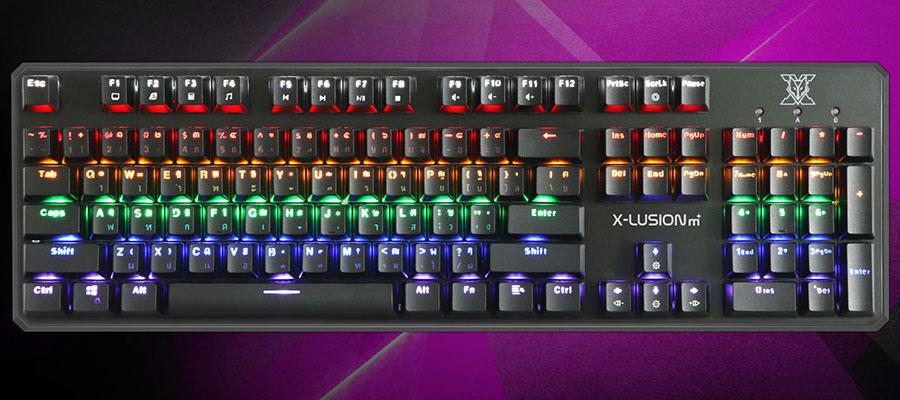 คีย์บอร์ด Nubwo X21 X-Lusion M+ Mechanical Keyboard ราคา