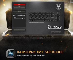 คีย์บอร์ด Nubwo X21 X-Lusion M+ Mechanical Keyboard มาโคร