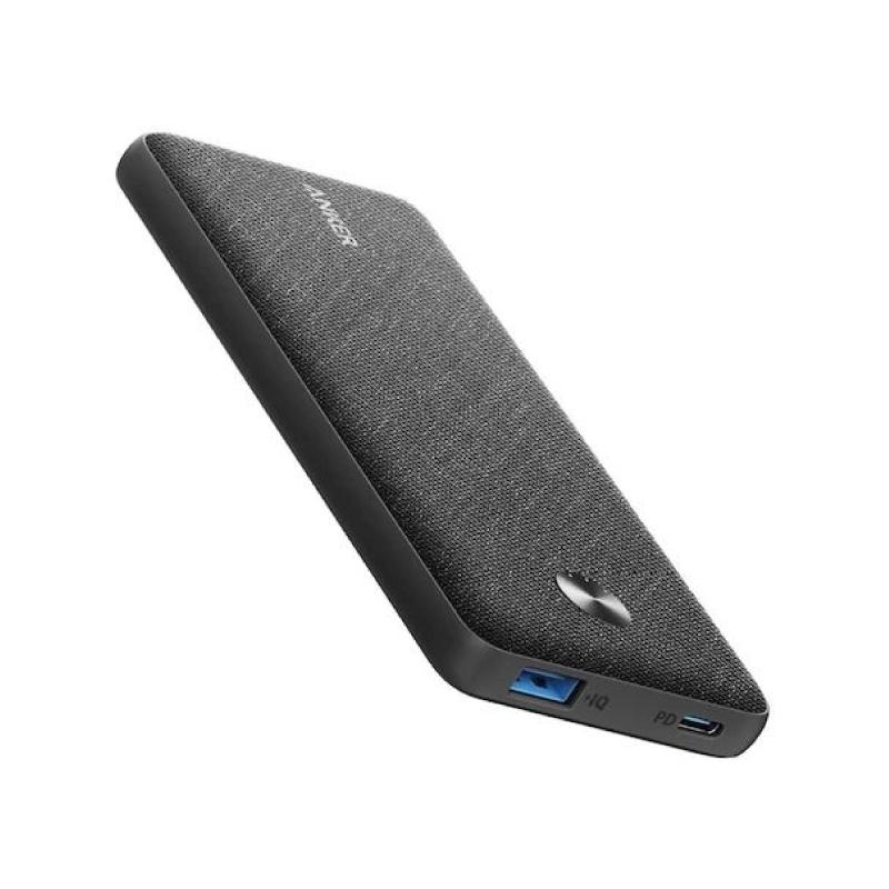 แบตสำรอง Anker PowerCore Metro Slim 10000 PD Black Fabric Version