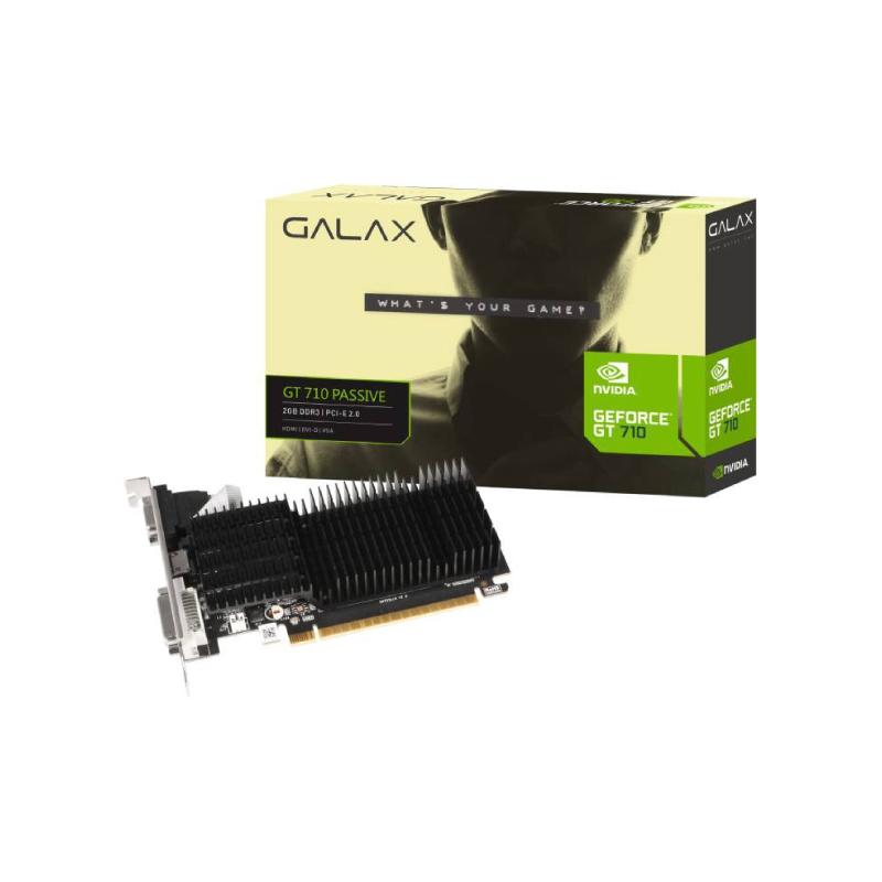 การ์ดจอ Galax Geforce GT710 2GB GDDR3 64 Bit VGA