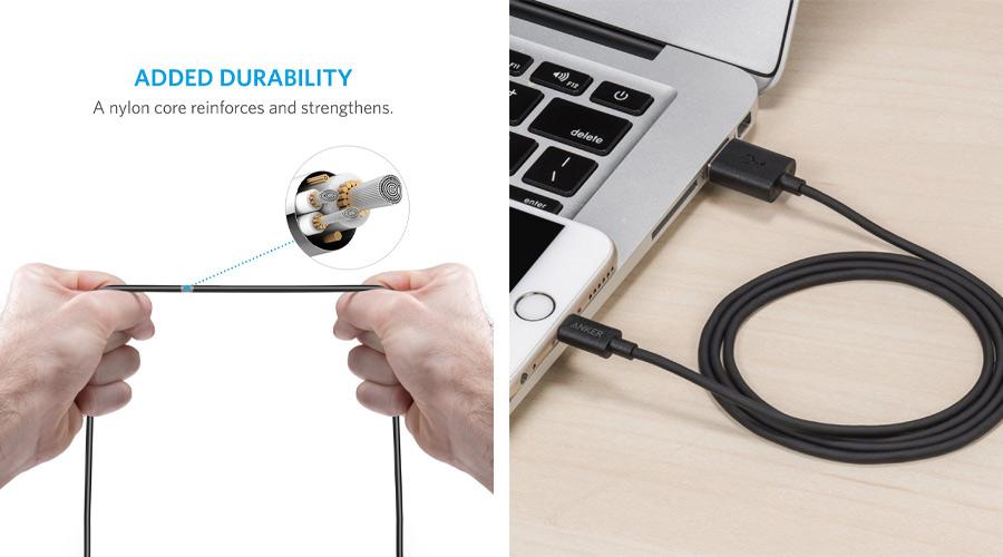 สายชาร์จ Anker MFI USB To Lightning Round Cable ซื้อ-ขาย