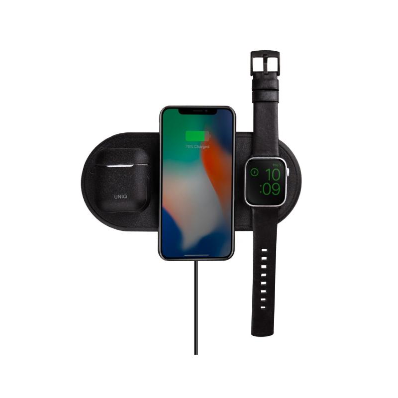 แท่นชาร์จ UNIQ Aereo 3 in 1 Fast Wireless Charger