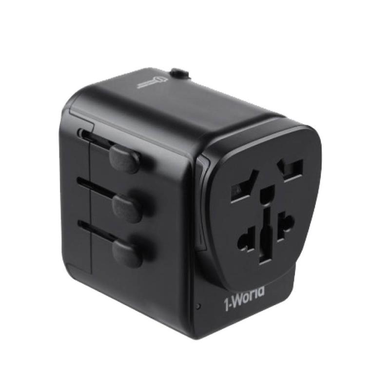 หัวชาร์จ Momax 1-World AC Travel Adapter (Type-C PD + 3 USB)