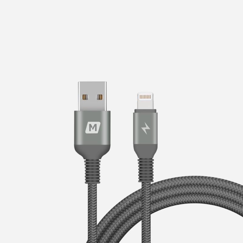 สายชาร์จ Momax Elite Link Triple-Braided Nylon Lightning Cable (1.2M)