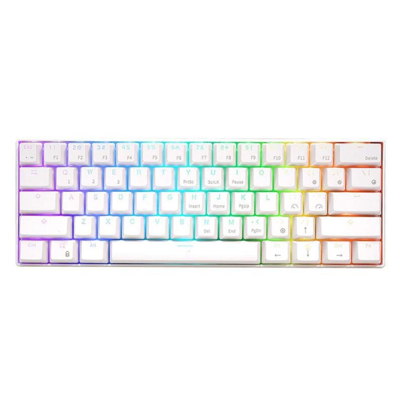 คีย์บอร์ด Royal Kludge RK61 White Wireless Gaming Keyboard