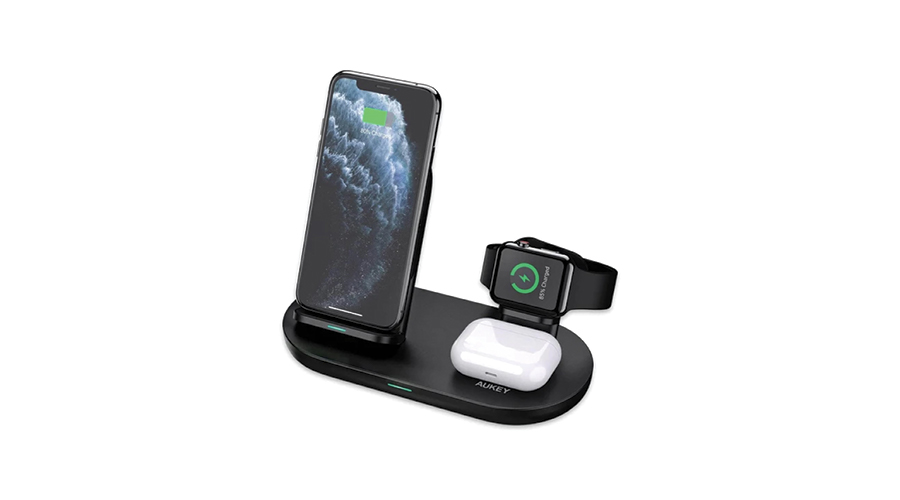 Aukey LC-A3 3in1 Wireless Charging Station Stand ซื้อ