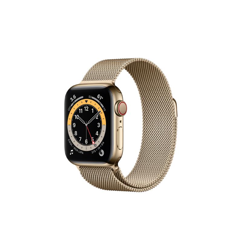 นาฬิกา Apple Watch Series 6 Space Gold Stainless Steel Case with Milanese Loop