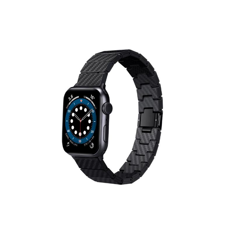 สายนาฬิกา Pitaka Carbon Fiber Link Bracelet Band Watch (42/44mm)