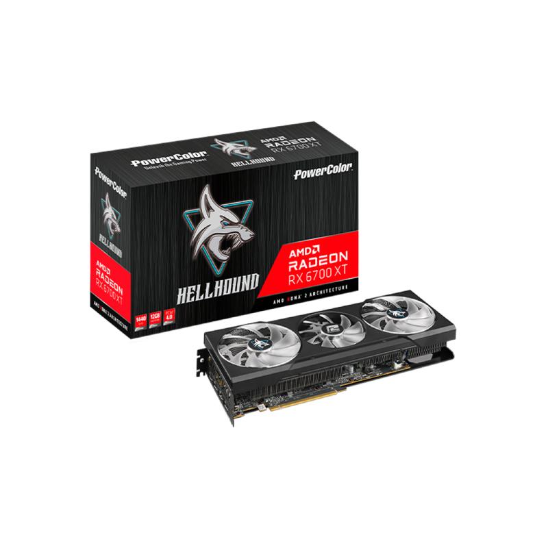 การ์ดจอ Power Color Hellhound RX 6700 XT 12GB GDDR6