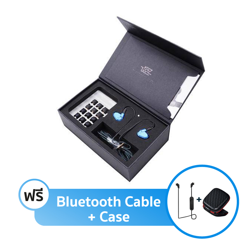 ชุดหูฟัง KZ ZS5 Fullbox + สาย Bluetooth + เคส