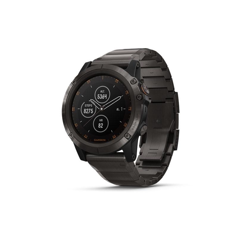 Garmin Fenix 5 Plus Sapphire DLC Titanium Sport Watch
