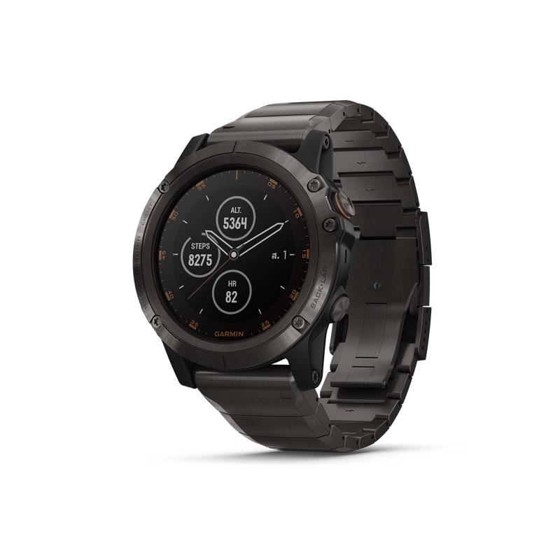 Garmin Fenix 5X Plus Sapphire DLC Titanium Sport Watch
