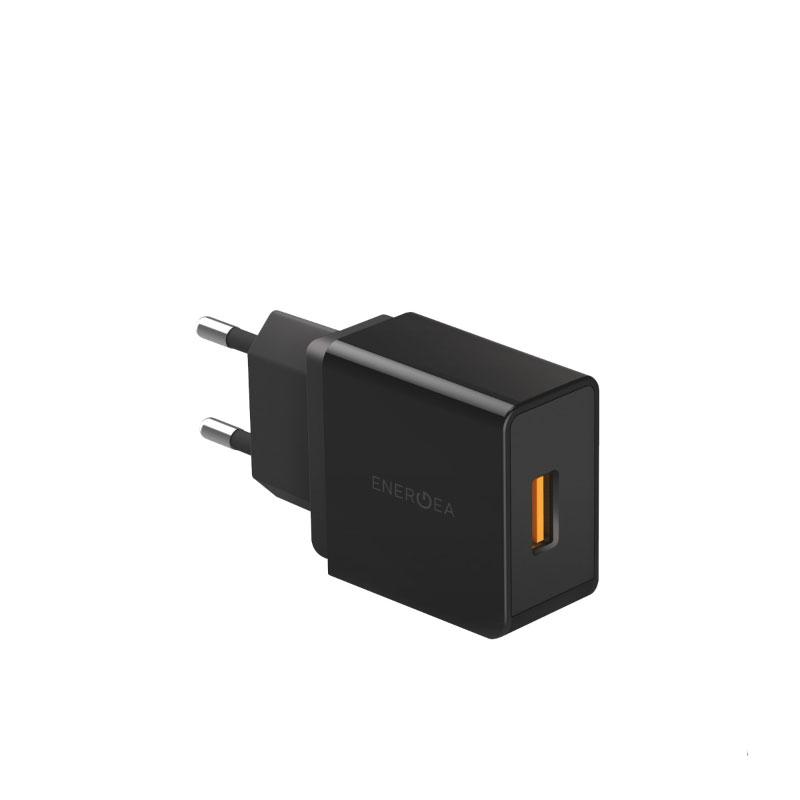 หัวชาร์จ Energea Wall Charger Ampcharge QC3.0 Single USB 18W (EU)