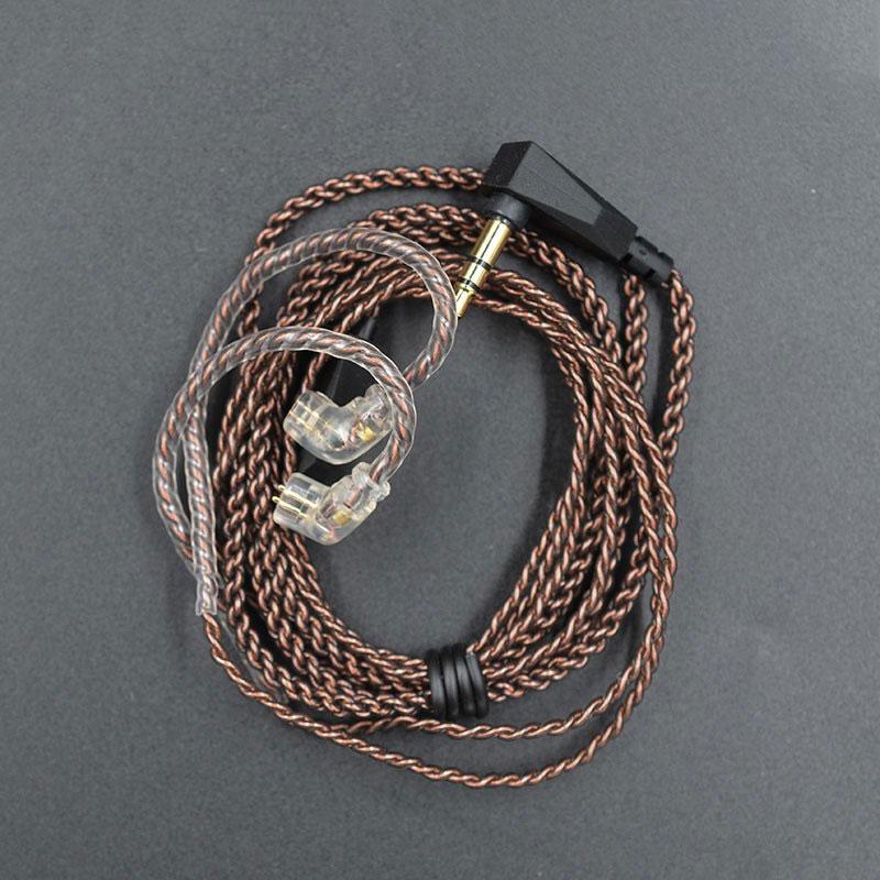 สายอัพเกรด KZ Copper สายถัก ขั้ว 2 pin ขั้ว C สำหรับZSN , ZSN PRO , ZS10 PRO