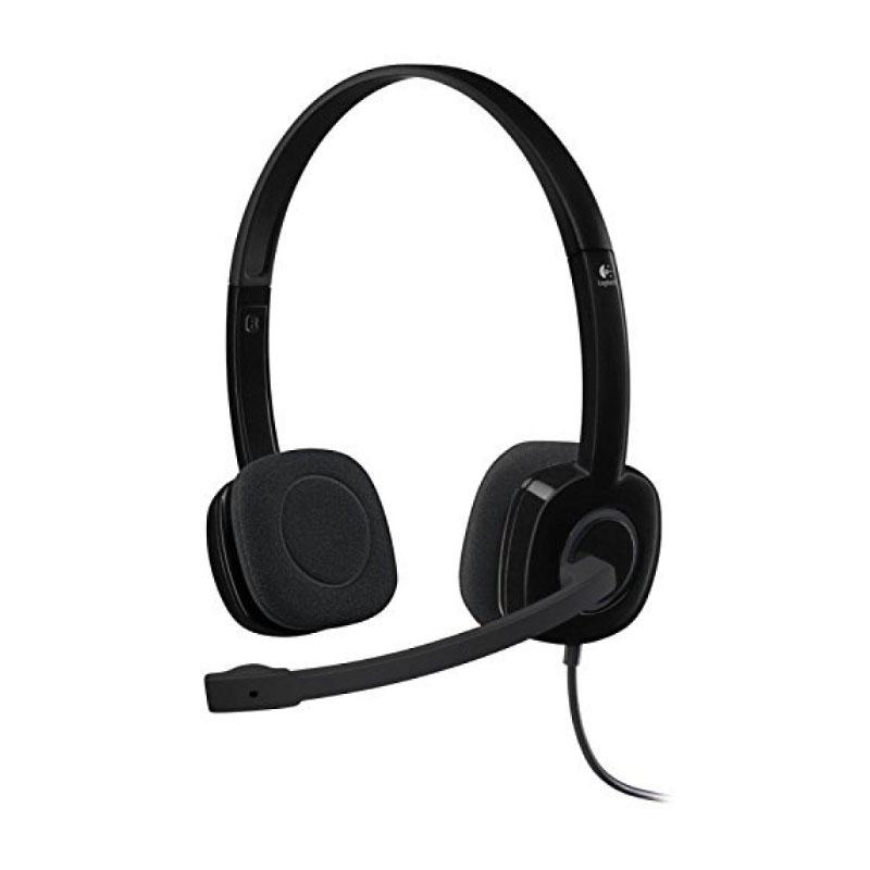 หูฟัง Logitech H151 Stereo On-Ear Headset Black