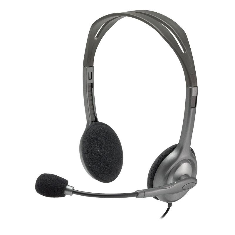 หูฟัง Logitech H110 Stereo On-Ear Headset