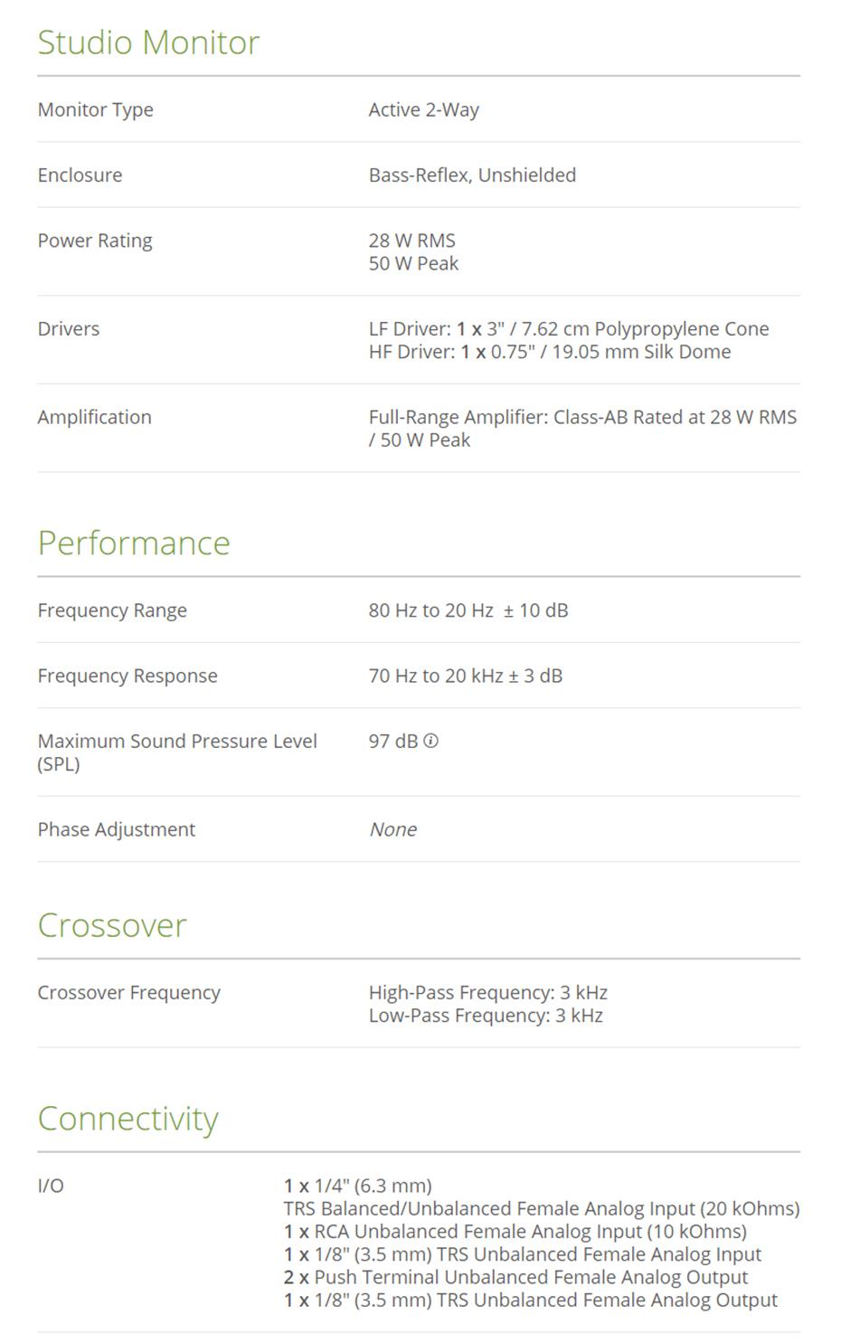 Mackie CR3 Monitor Speaker
