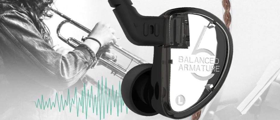 KZ AS06 In-Ear Monitor Headphone