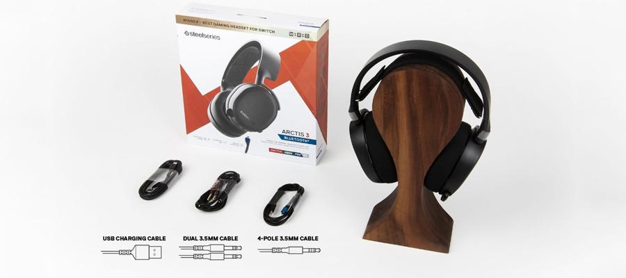 หูฟังไร้สาย Steelseries Arctis 3 7.1 Bluetooth Headphone (2019 Edition) อุปกรณ์ภายในกล่อง