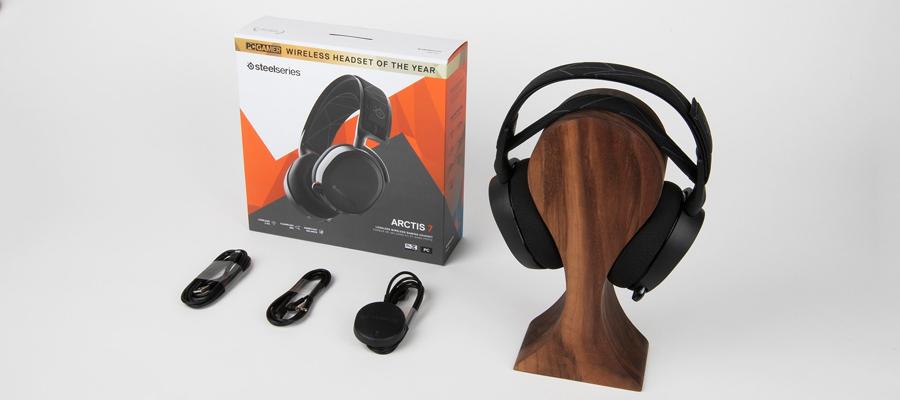หูฟังไร้สาย SteelSeries Arctis 7 7.1 DTS Headphone (2019 Edition) ของในกล่อง