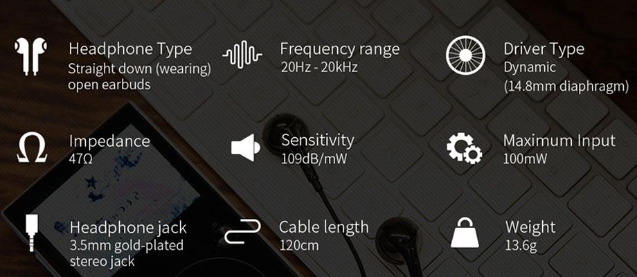 หูฟัง Fiio EM3S Earbud สเปค