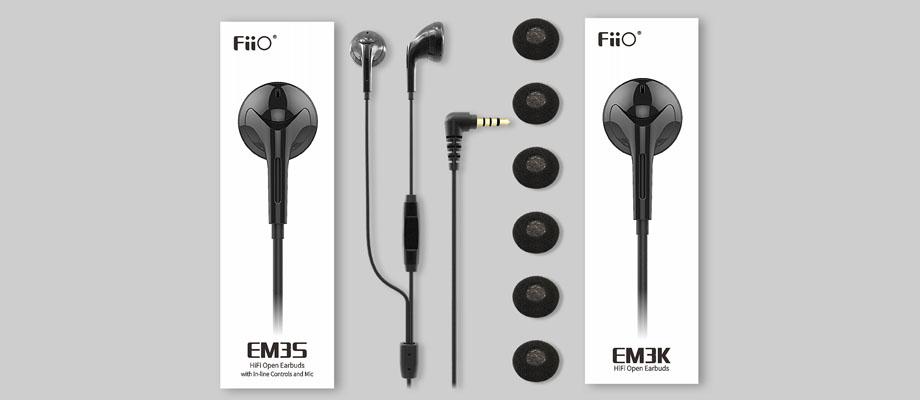 หูฟัง Fiio EM3S Earbud ในกล่อง