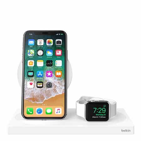 แท่นชาร์จ Belkin Charge Dock for Apple Watch + Wireless Charging Dock ราคา