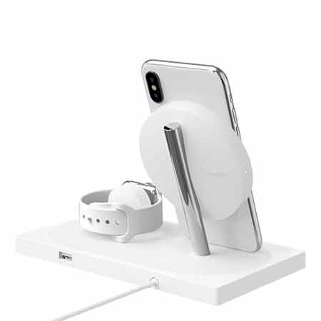 แท่นชาร์จ Belkin Charge Dock for Apple Watch + Wireless Charging Dock สี